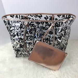 Victoria's Secret NWT clear bag w/ VS lettering